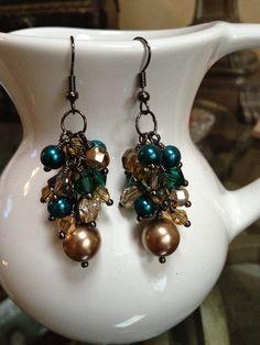 Bronze Goddess Earrings. $17.00, via Etsy.