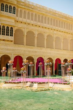 Wedding Decor at Suryagarh Fort in India