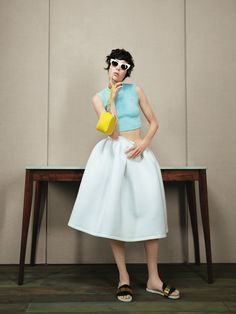 sunny side up: edie campbell by patrick demarchelier for uk vogue january 2014