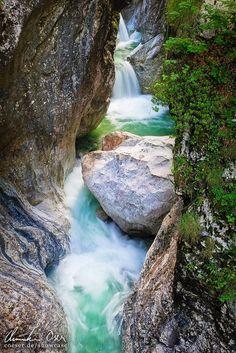 Garnitzenklamm 2 by Christian Öser, via Garnitzen Gorge, Hermagor, Austria Beautiful Sites, Beautiful World, Beautiful Places, Innsbruck, Places To Travel, Places To See, Destinations, Beautiful Waterfalls, Wonders Of The World
