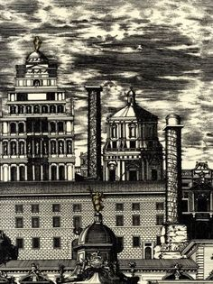Cole & Son Riflesso (77-14052) from the Fornasetti Collection