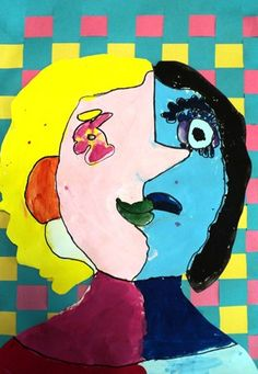 art history and painting activity lesson  for children Picasso. Annie Niehay