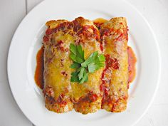 Healthy beef and bean enchiladas...these are AMAZING! I will be making them frequently.