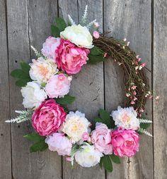 Spring Wreaths for Front Door, Spring Door Wreath, Spring Wreaths for Front Door Hydrangea, Door Wreath, Spring Wreaths, Spring Door Decor