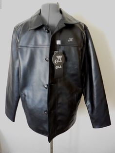 Mens Black Armani (A) Collezioni Leather Jacket New Collection Sz M Italy NWT #ArmaniACollezioni #BasicJacket
