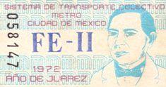 Con motivo del Centenario de la muerte de Don. Benito Juárez García y el decreto por parte del H. Congreso de la Unión como el Año de Juárez, el Sistema de Transporte Colectivo emitió una edición especial de boletos unitarios conmemorativos