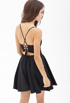 Crisscross Tie-Back Dress | FOREVER21 - 2000100205