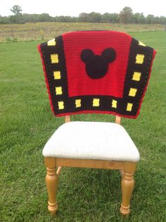 Mickey Mouse crochet baby blanket by TheChesnutTree on Etsy