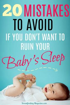 20 Mistakes Parents Make to Ruin Their Baby's Sleep Baby Sleep Problems? Top 20 mistakes that parents make that ruin their baby's sleep. Get baby to sleep through the night instead. Newborn Schedule, Baby Sleep Schedule, Baby Sleep Routine, Toddler Sleep, Kids Sleep, Ga In, Get Baby, Baby Boy, Baby Supplies