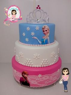 ice cream cakes for sale Frozen Themed Birthday Party, Disney Frozen Birthday, Birthday Cake Girls, Frozen Party, Bolo Frozen, Frozen Cake, Bolo Elsa, Cakes For Sale, Fake Cake