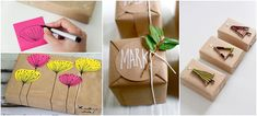 MollyMoo – crafts for kids and their parents DIY Christmas Wrapping and Free Printables