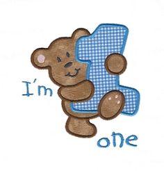 Bear 1 Applique - 3 Sizes! | What's New | Machine Embroidery Designs | SWAKembroidery.com Applique for Kids