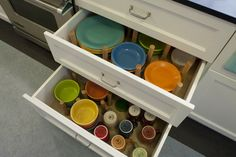 fiestaware. dishes organizer drawer
