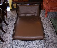 Living Divani leather Frog chaise.
