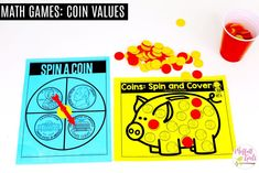 Coin Values: This fun Kindergarten Math activity helps students identify and count money in a hands-on way!