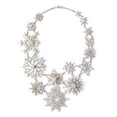 Snowflake Statement Necklace: Noir for Walt Disney Signature celebrates Fanatasia's Anniversary with this snowflake necklace. Noir Jewelry, Jewelry Box, Jewelery, Jewelry Accessories, Jewelry Necklaces, Fashion Jewelry, Bracelets, Craft Jewelry, Pandora Jewelry