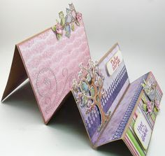 Candy Slabaugh creates a card featuring #HeartfeltCreations #Owls #ArtGlitter #Want2Scrap #Prills #Copics