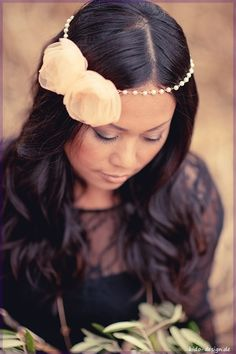 Haarkette Love & Spring Haarband Perlen blush  von kido-design auf DaWanda.com