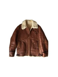 1980s Bomber Shearling Leather Aviator Men by louloufrenchvintage