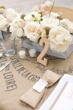 Cute wedding table setting
