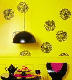 Use vinyl wall decals to liven up a blank wall! More budget-friendly DIY projects: http://www.bhg.com/decorating/do-it-yourself/accents/budget-friendly-diy-projects/?socsrc=bhgpin062113walldecals=15