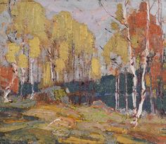 View Fall woods, Algonquin Park by Tom Thomson on artnet. Browse upcoming and past auction lots by Tom Thomson. Group Of Seven Art, Group Of Seven Paintings, Canadian Painters, Canadian Artists, Abstract Landscape, Landscape Paintings, Tom Thomson Paintings, Catalogue Raisonne, Tree Art