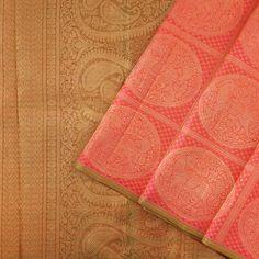 No border Kanjivarams are always interesting and unique Kanakavalli Kanjivaram Silk Sari 073-01-23374 - Cover View