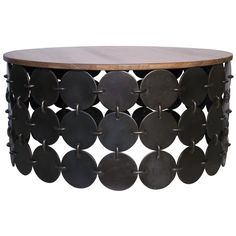 Noir Lola Round Coffee Table | Coffee & Cocktail Tables | Living Room | Furniture | Candelabra, Inc.