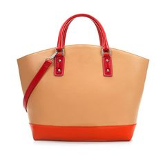 sac cabas cuir orange flashy - Recherche Google