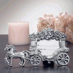Fairytale Wedding Coach Place Card Frame Favors