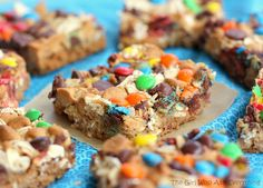 Monster Magic Cookie Bars:  Made these for homeschool presentation night and came home with an empty tray!