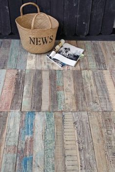 Unique reclaimed flooring. I like the suggestion for tight budgets to get few square metres for a wooden rug. I would also consider using it as cladding for a feature wall.