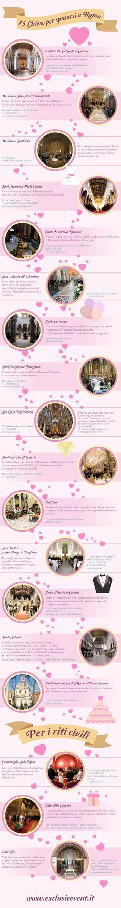 Chiese per matrimonio a Roma.   #wedding #Rome #matrimonio #location #Roma #chiese #church