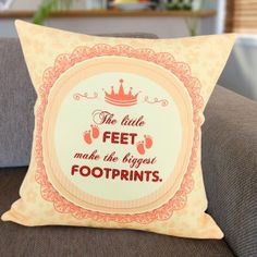 Cushions Personalised Cushions, Footprint, Bliss, In This Moment, Free Shipping, Gifts, Presents, Favors, Gift