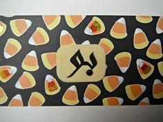 Arabic Halloween Boo and Candy Cane Handmade Card by A Crafty Arab
