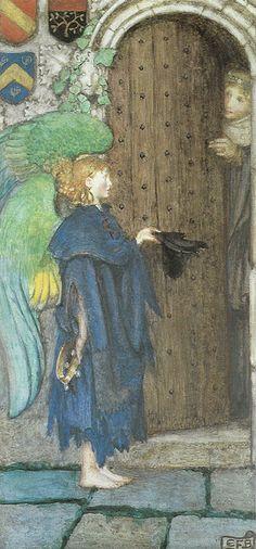 "Eleanor Fortescue-Brickdale (1872-1945), ""Angel at the door"" by sofi01, via Flickr"