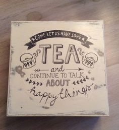 DIY Tea Box From The Dollar Store Using Mod Podge