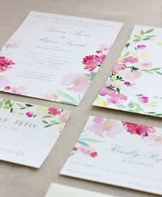 Yao Cheng Design - WEDDING INVITES- COLLECTION PREVIEW