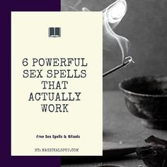I'll show you 6 Powerful Sex Spells and Rituals that really work. Some of them can be done without any ingredients. Check it out! Wiccan Books, Witchcraft Spell Books, Wiccan Spell Book, Wiccan Spells, Wiccan Rituals, Hoodoo Spells, Witchcraft Symbols, Real Spells, Magick Book