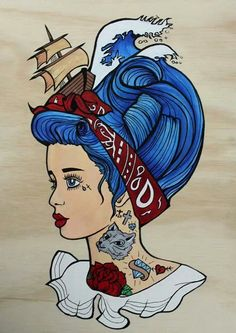 46 New ideas for tattoo old school rockabilly retro pin up girls Tattoo Girls, Pin Up Girl Tattoo, Girl Tattoos, Woman Tattoos, Illustrations, Illustration Art, Dessin Old School, Rockabilly Art, Pinup Art