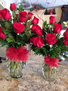 Matching Mother and daughter Valentine's Day arrangements