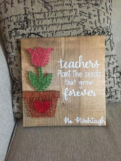 Your place to buy and sell all things handmade Excited to share this item from my shop: Teacher Gift, Personalized Teacher Sign, Lettered Gifts, String Art for Teachers Diy Gifts For Him, Diy Gifts For Boyfriend, Diy Gifts For Teachers, Christmas Gifts For Teachers, Easy Teacher Gifts, Teacher Signs, Diy Holiday Gifts, Paper Embroidery, Teacher Appreciation Gifts