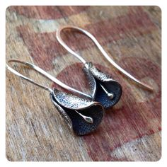 Sterling Silver Calla Lilly Earrings  by jenjems on Etsy