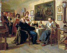 «Торг. Сцена из крепостного быта». Николай Неврев, 1866