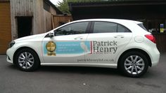 Patrick Henry Mercedes A class with printed and profiled graphics.