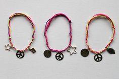 DIY: knotted charm bracelet