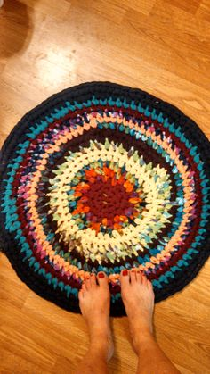 Handmade Crocheted UpCycle Tshirt Rug by LaceyLeighCollection, $30.00