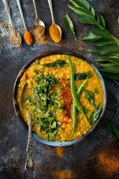 Easy Indian Dal Fry with Methi (Fenugreek) Paratha food photography Healthy Soup Recipes, Vegetarian Recipes, Cooking Recipes, India Food, Biryani, Indian Food Recipes, Asian Recipes, Dal Fry, Food Photography Tips