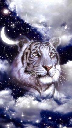 Wallpaper… By Artist Unknown… - unknown animals Tiger Images, Tiger Pictures, Tiger Wallpaper, Animal Wallpaper, Big Cats Art, Cat Art, Beautiful Cats, Animals Beautiful, Tiger Artwork