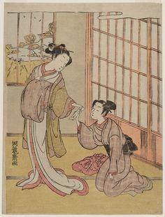 磯田湖龍齋: Oume and Kumenosuke - ボストン美術館